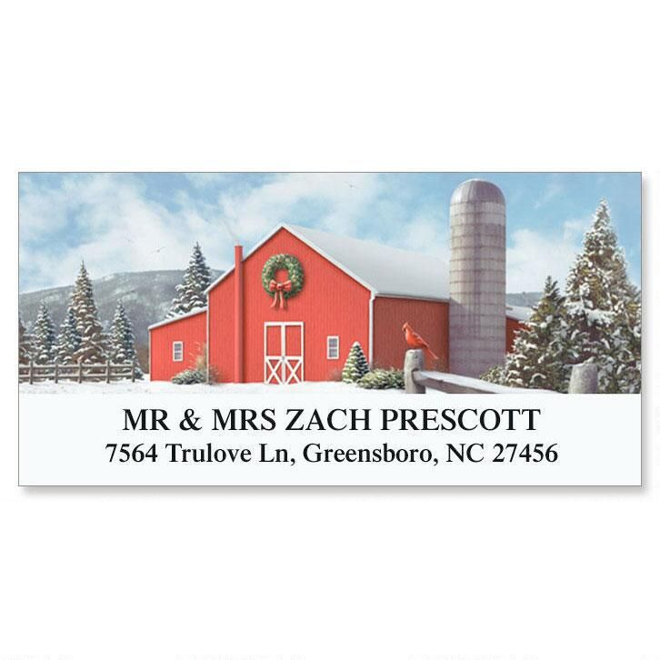 On a Winter Day Deluxe Return Address Labels
