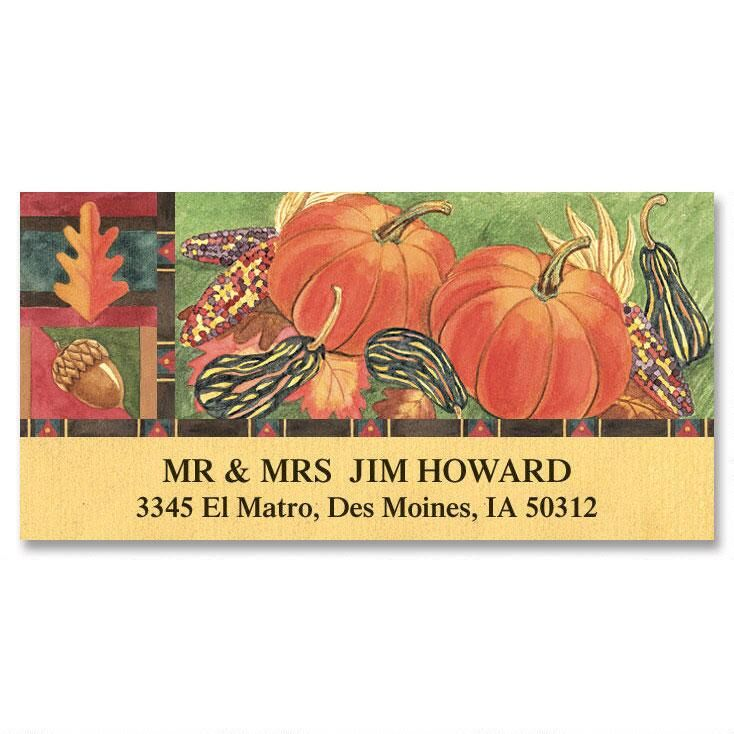 Autumn Harvest  Deluxe Return Address Labels