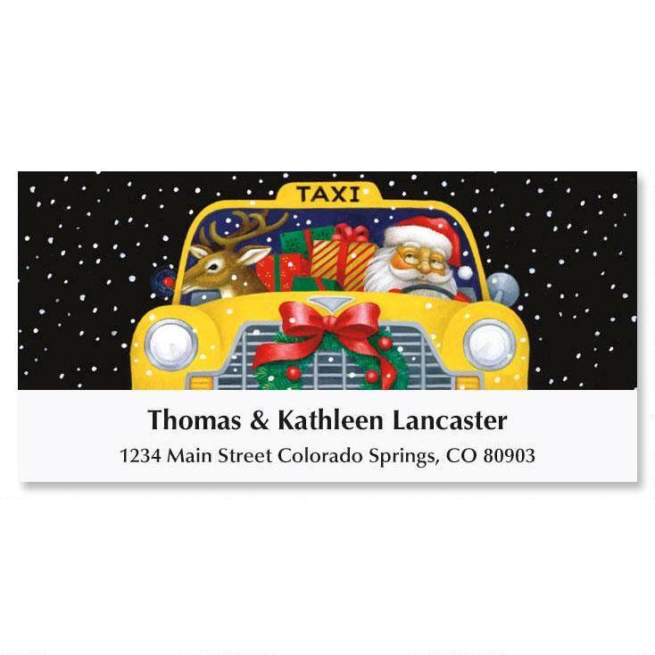 City-Savvy Santa Deluxe Return Address Labels