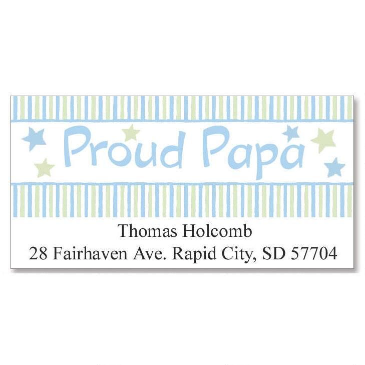 Proud Papa Deluxe Return Address Labels