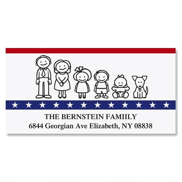 Our Patriotic Family Deluxe Address Labels