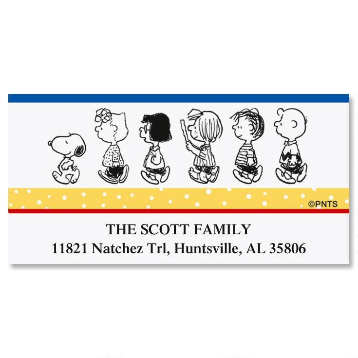 PEANUTS®  Our Family Deluxe Return Address Labels
