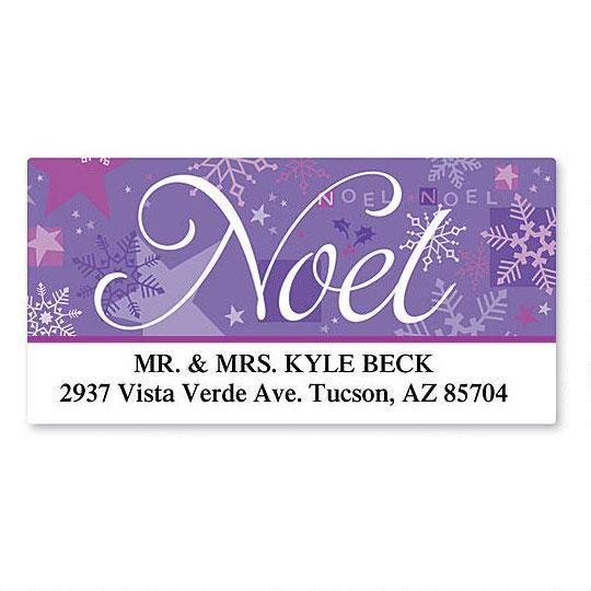 Noel Deluxe Return Address Labels