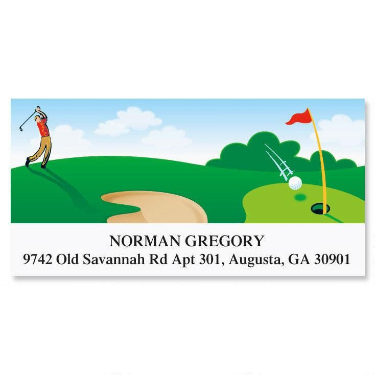 Parfecto Golf  Address Labels