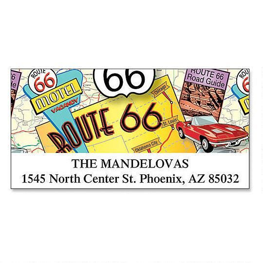 Route 66 Deluxe Return Address Labels