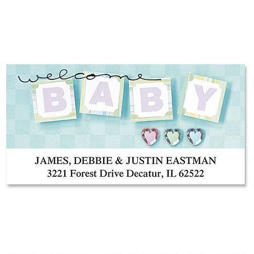 Welcome Baby Deluxe Return Address Labels
