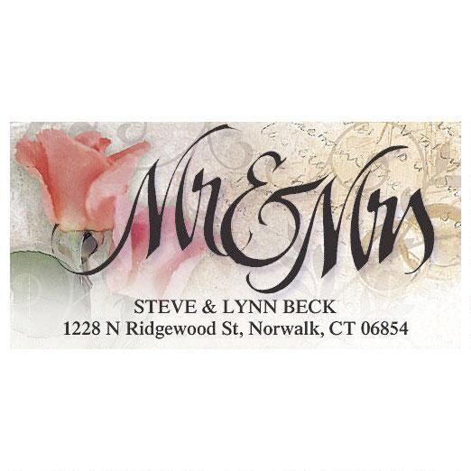 Mr. & Mrs. Deluxe Return Address Labels