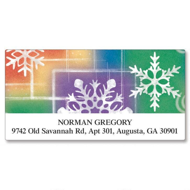Snowflake Deluxe Address Labels
