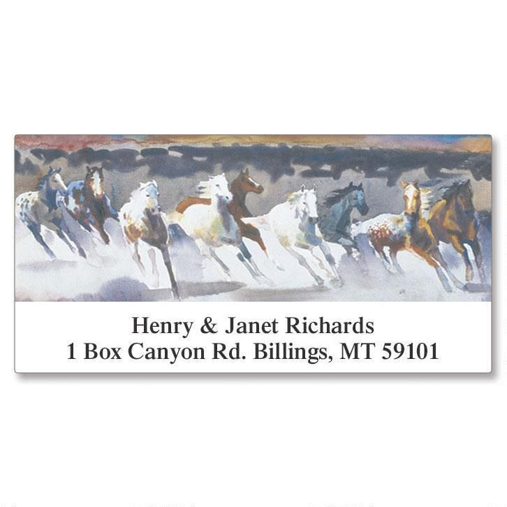 Wild Horses  Deluxe Return Address Labels
