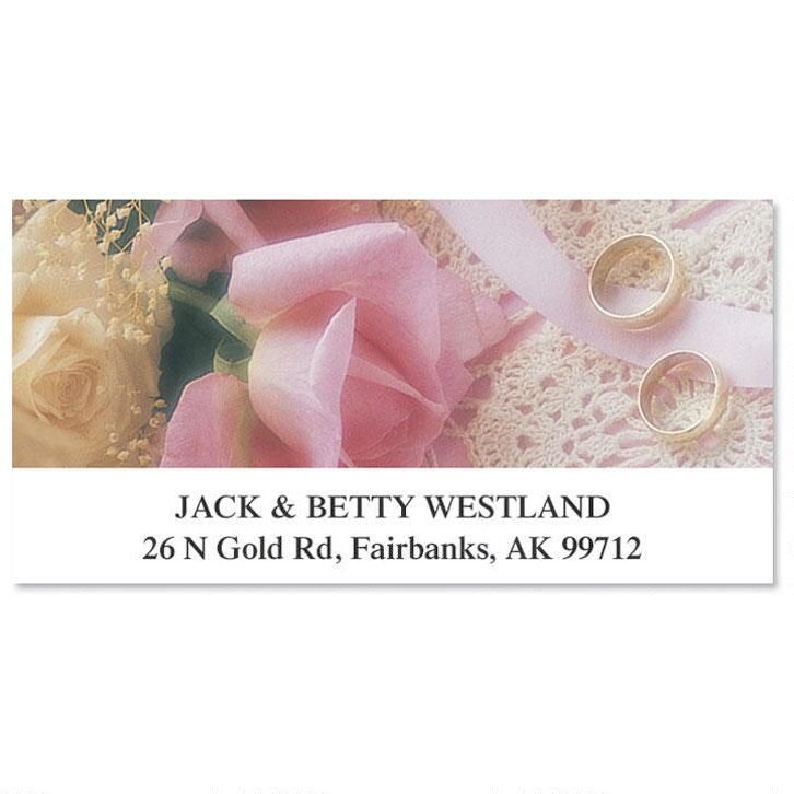 With This Ring Deluxe Return Address Labels