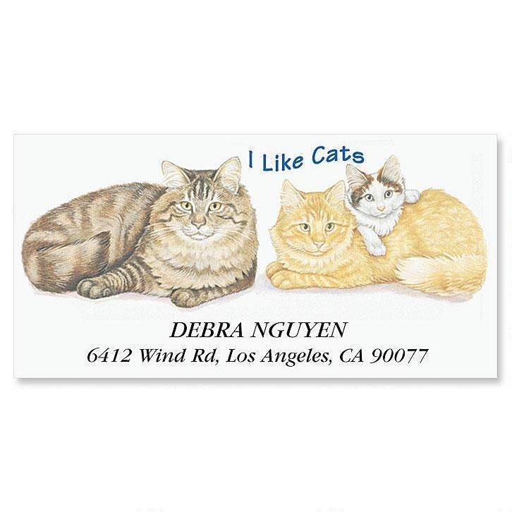 I Like Cats Deluxe Address Labels