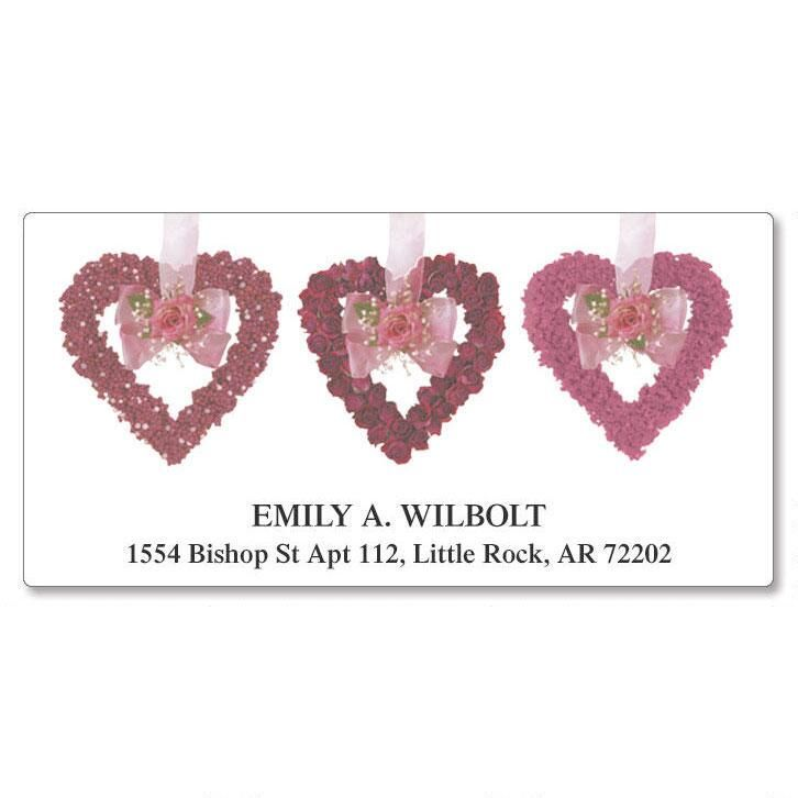 Heart Garland  Deluxe Return Address Labels
