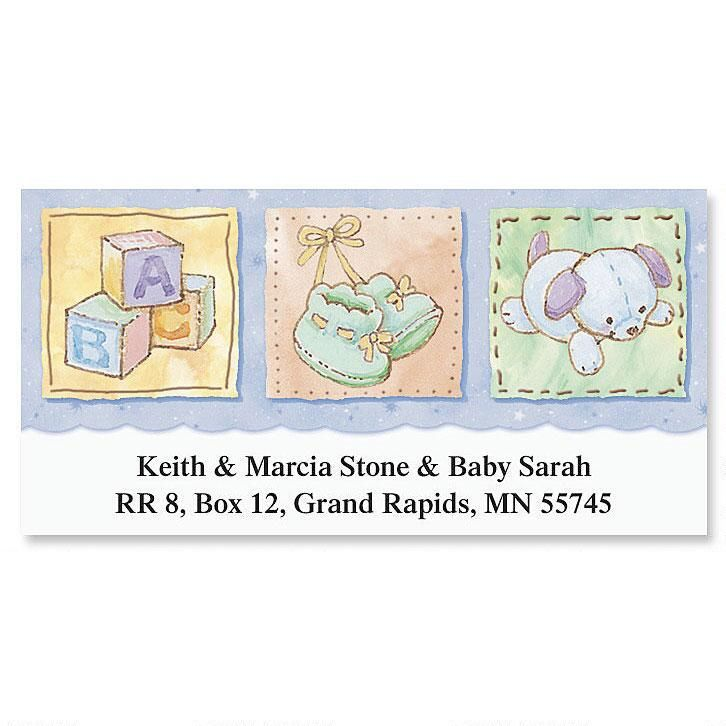 Baby's Life Deluxe Return Address Labels
