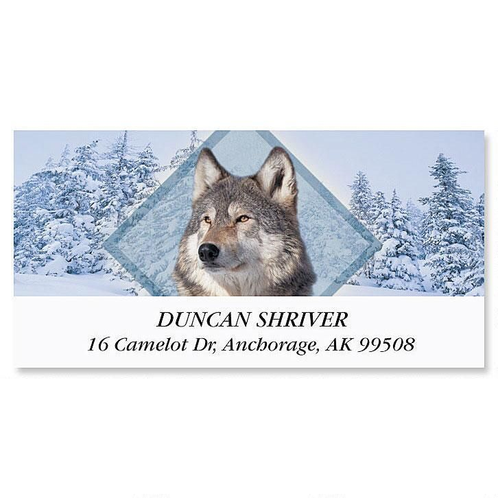 Wolf Deluxe Return Address Labels