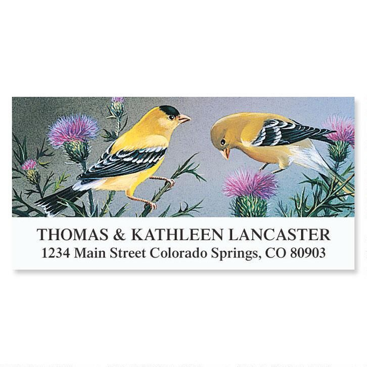 Goldfinch Deluxe Address Labels