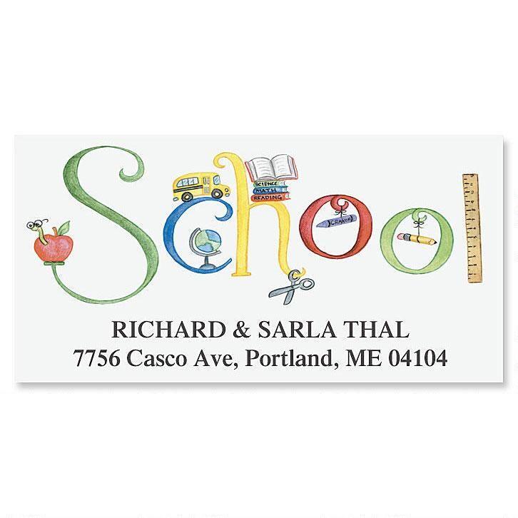 School Deluxe Return Address Labels