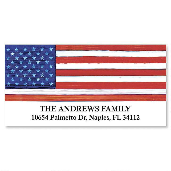 American Flag  Deluxe Return Address Labels