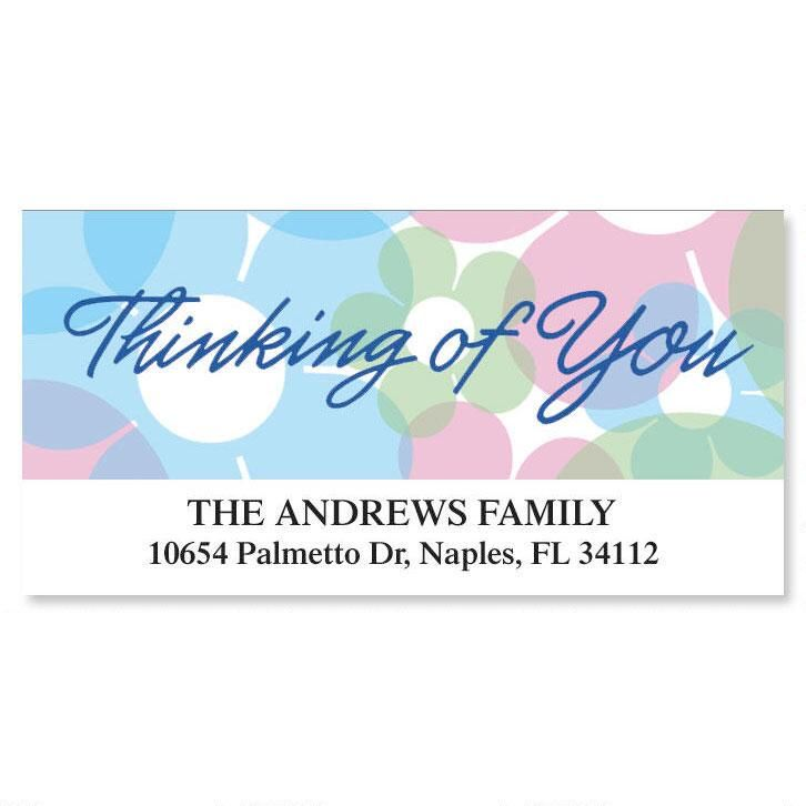 Thinking of You Deluxe Return Address Labels