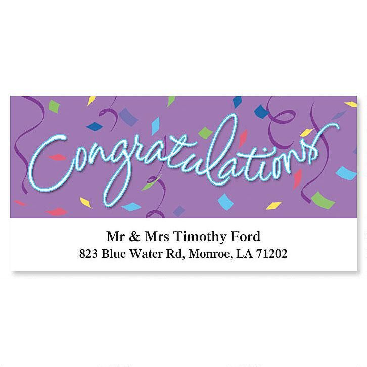 Congratulations Deluxe Return Address Labels