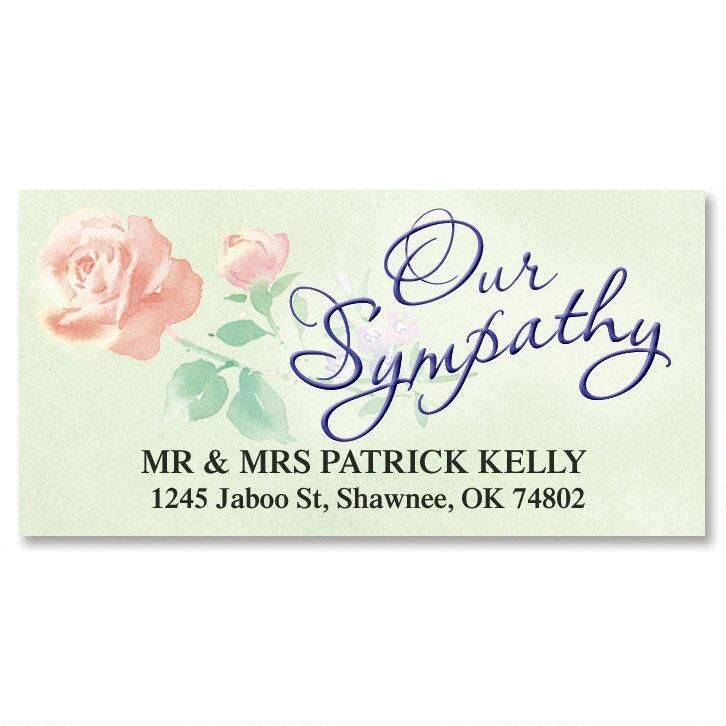 Sympathy Deluxe Return Address Labels