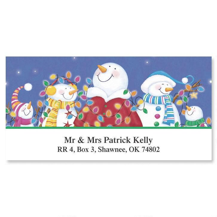 Merry & Bright  Deluxe Address Labels