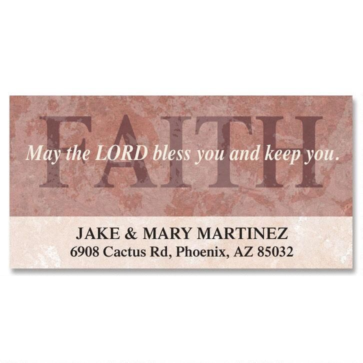 Faithful Words Deluxe Return Address Labels