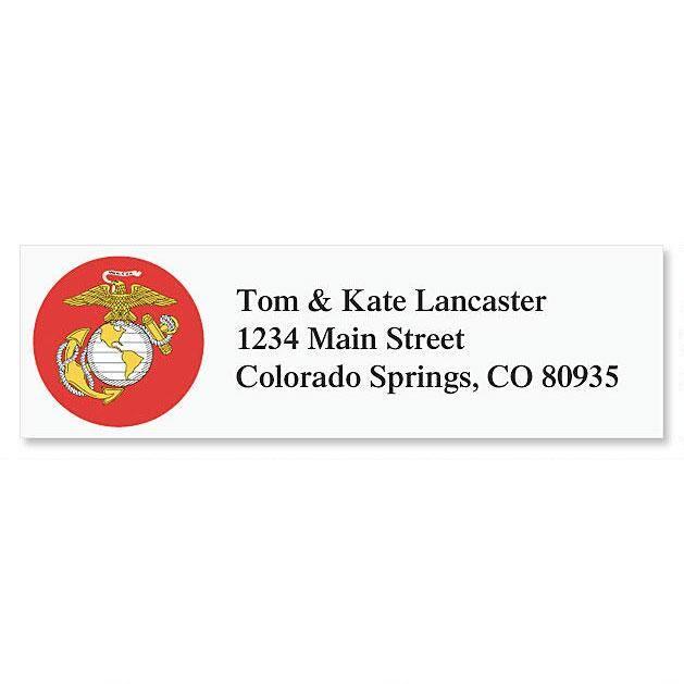 Marine Corps Classic Return Address Labels