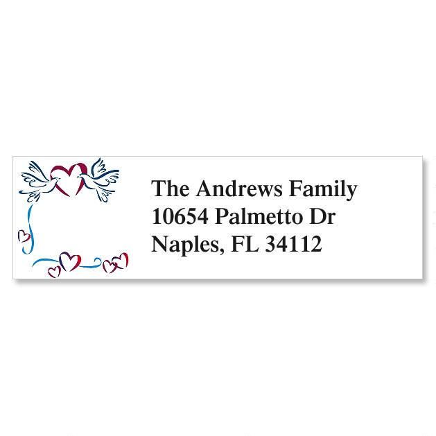 Sweet Doves Classic Return Address Labels