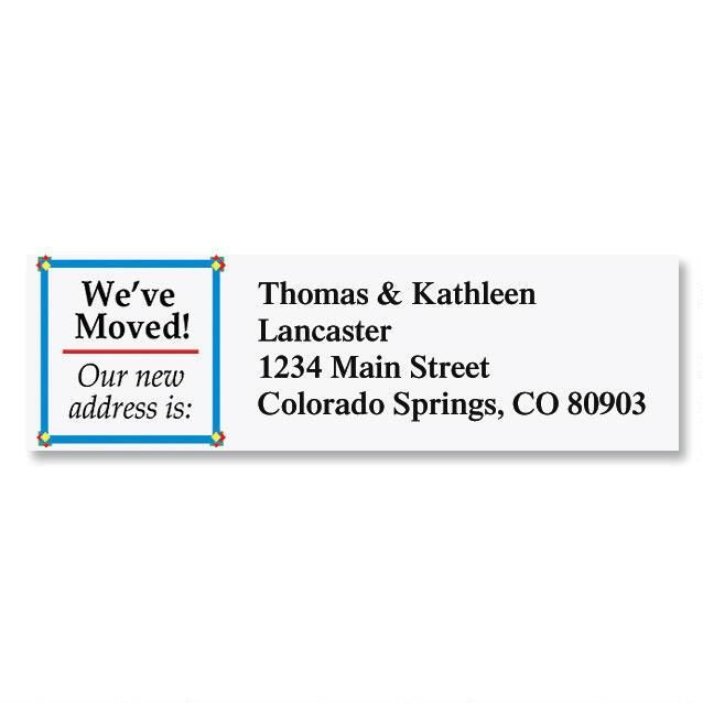 We've Moved  Classic Address Labels