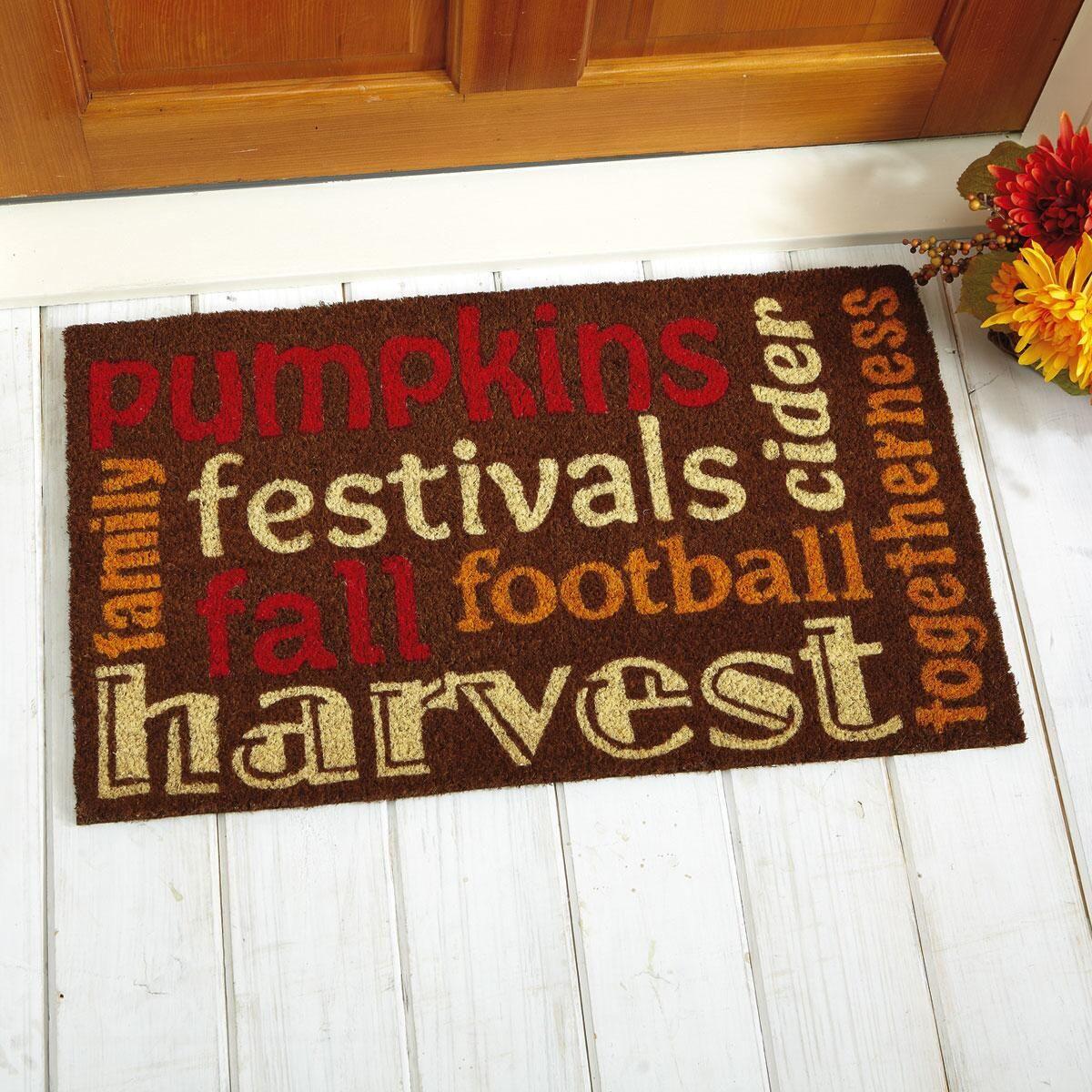Autumn Words Doormat