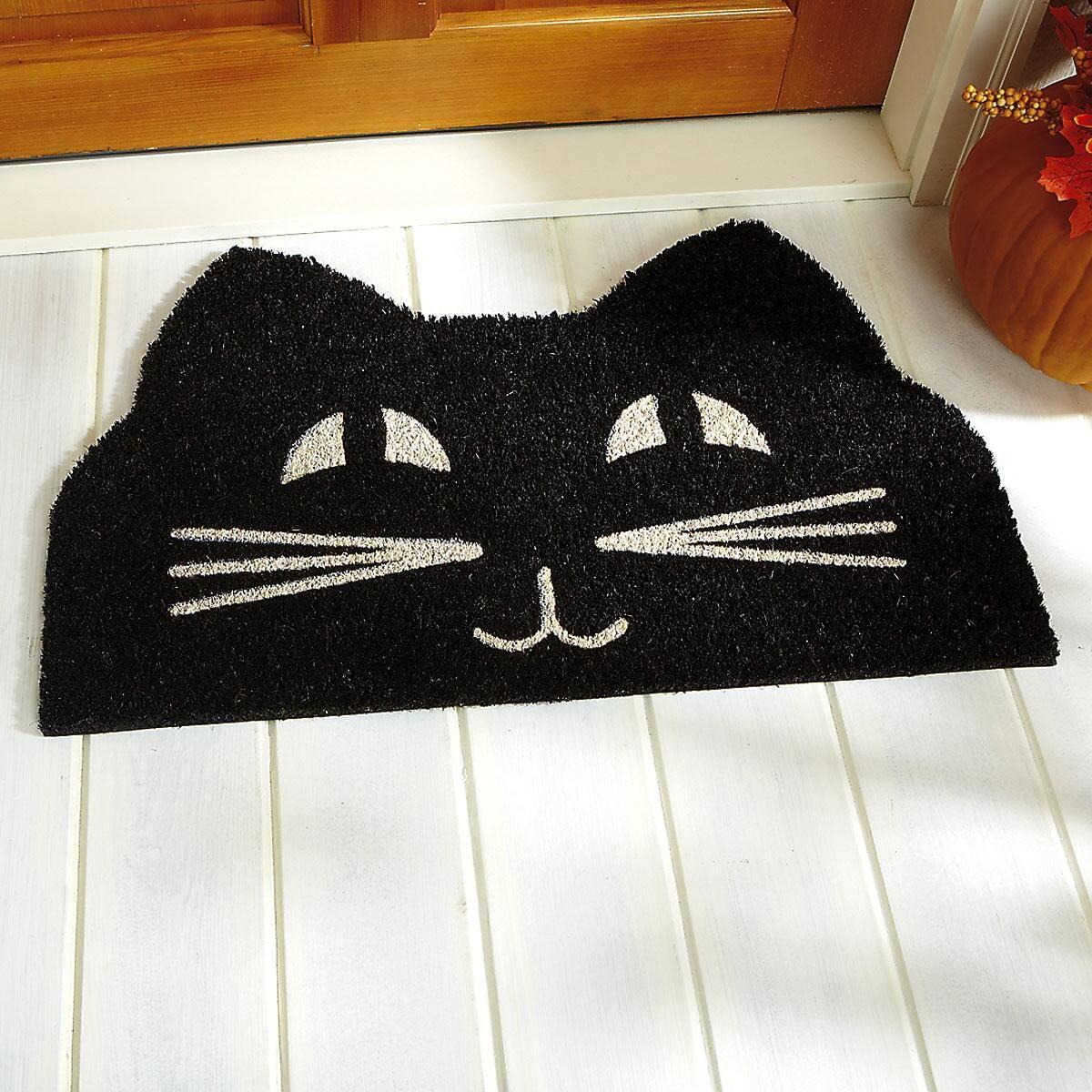Cat Face Coir Doormat Colorful Images