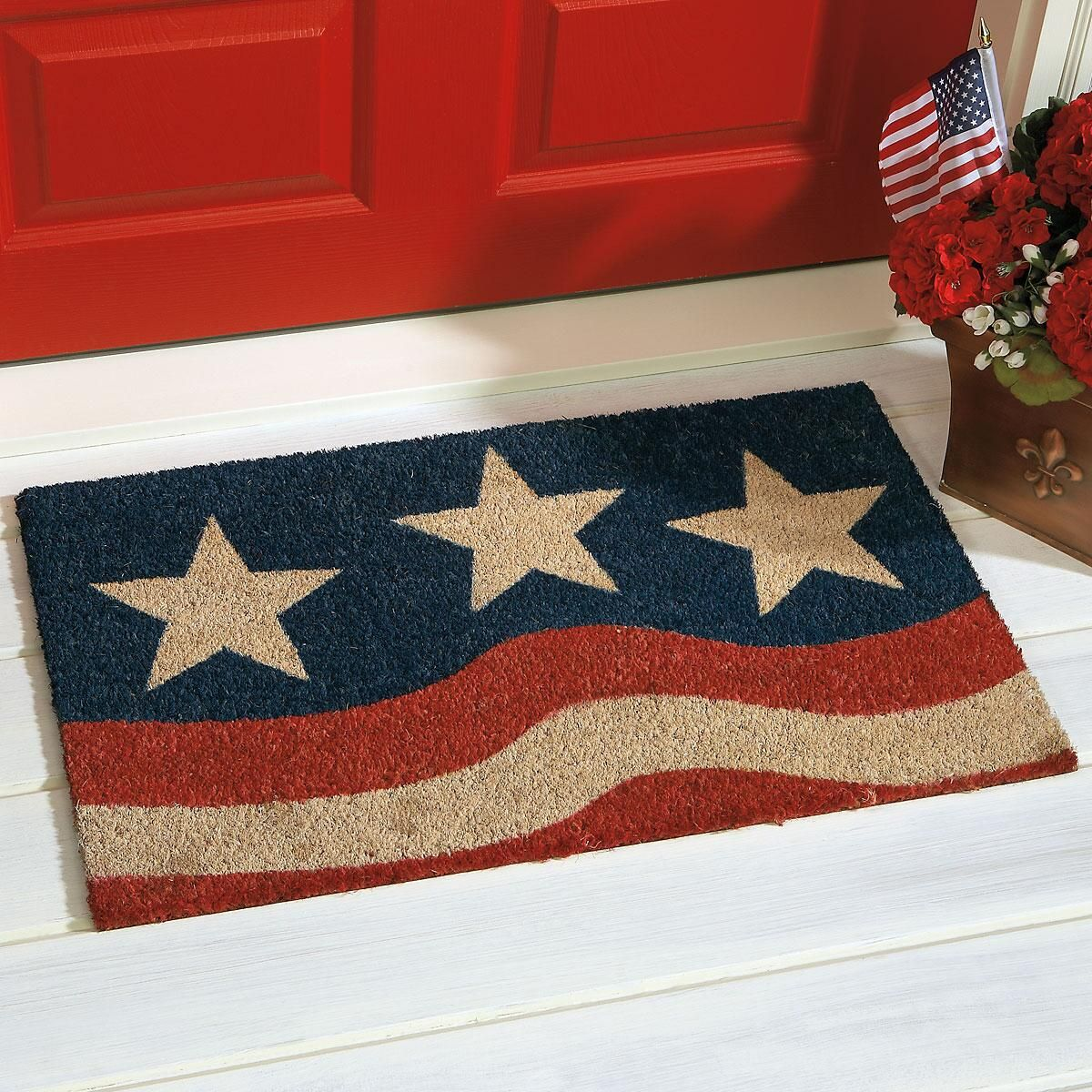 Stars & Stripes Coir Doormat