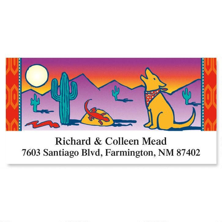 Southwest Serenade Deluxe Return Address Labels