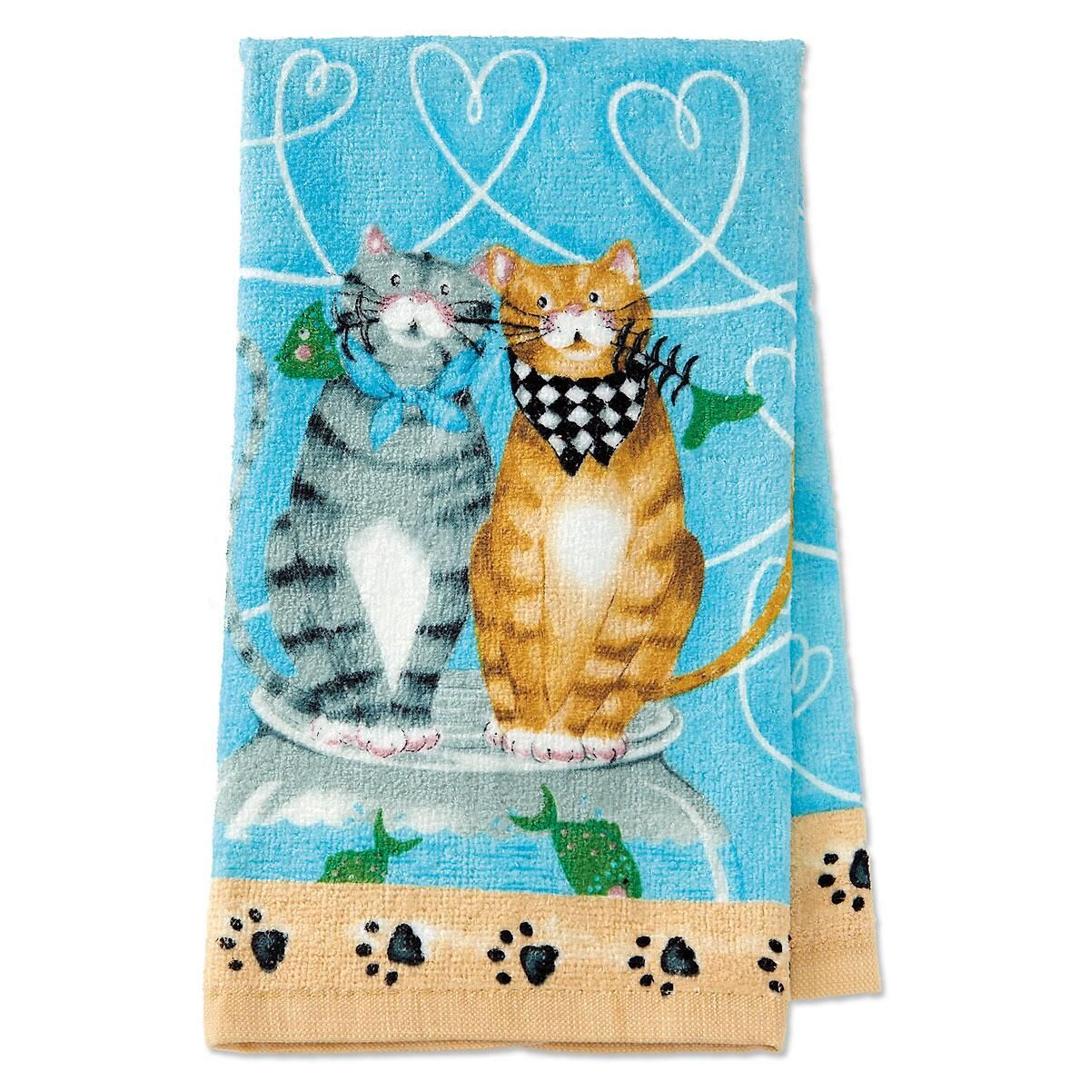 Happy Cat Kitchen Towel
