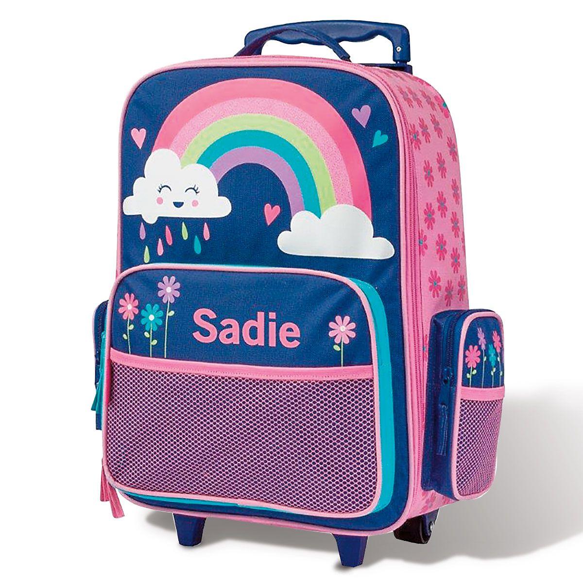 "Custom 18"" Rainbow Rolling Luggage by Stephen Joseph®"