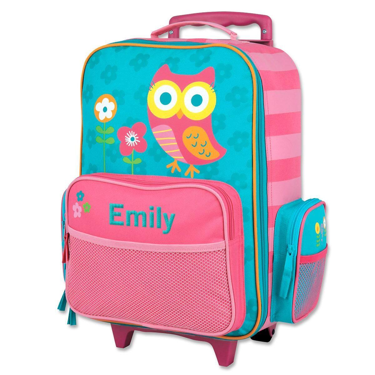 "Custom 18"" Owl Rolling Luggage by Stephen Joseph®"