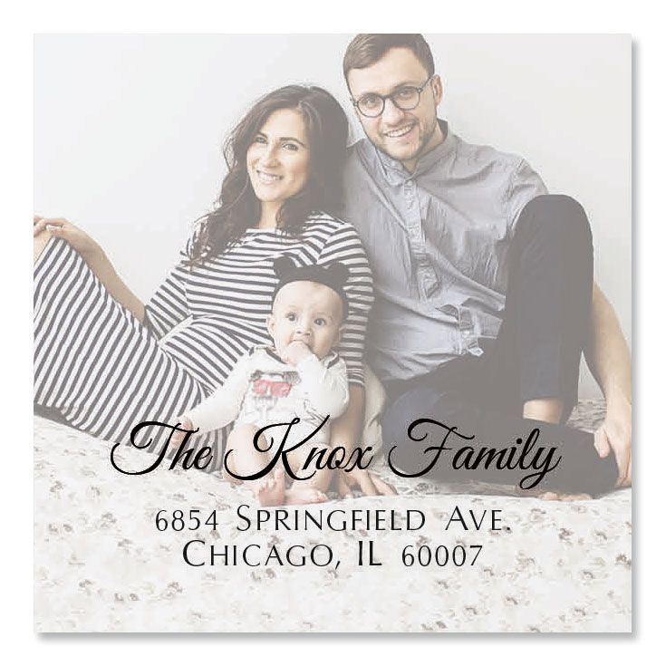 Personalized Full Photo Large Square Address Label