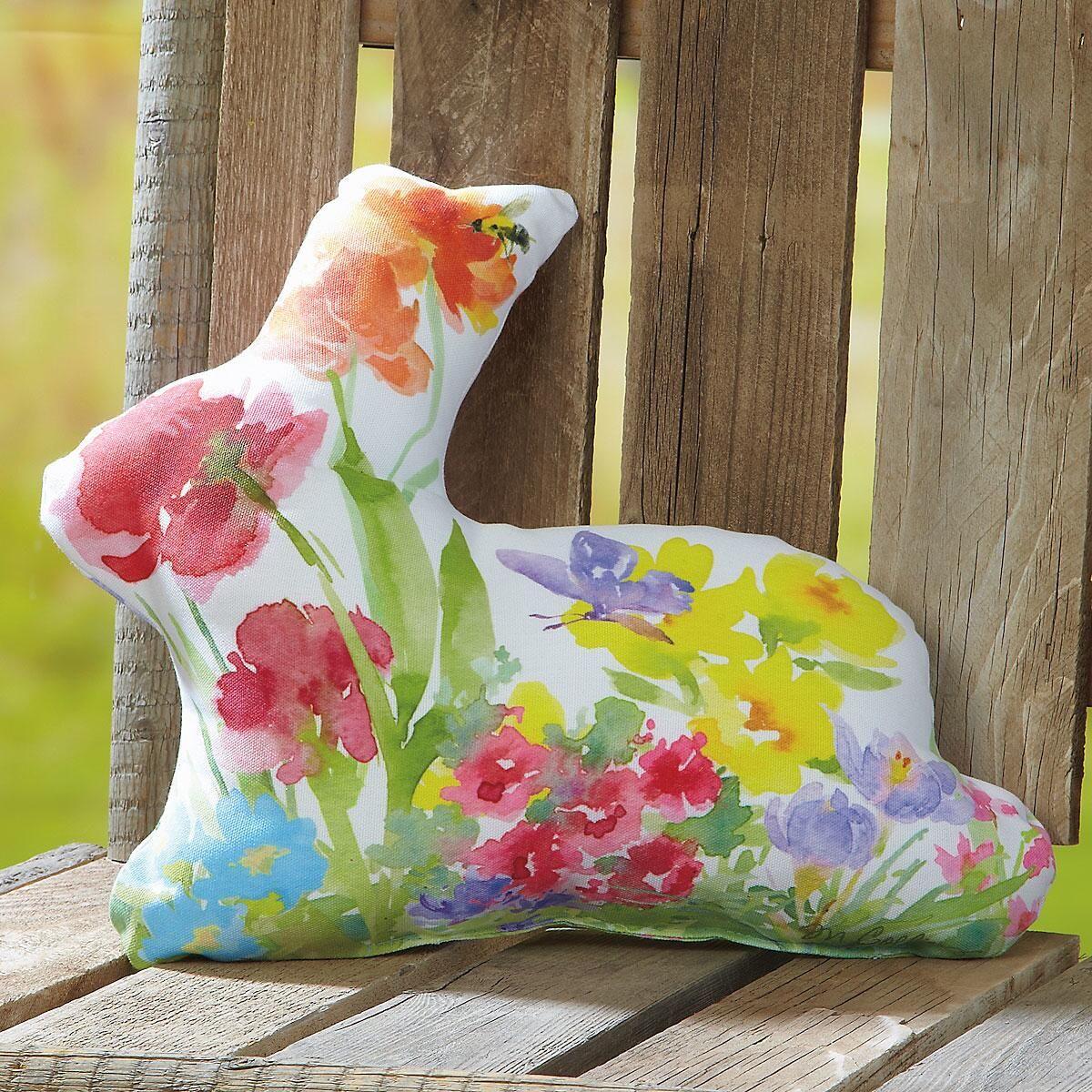 Garden Bunny Pillow