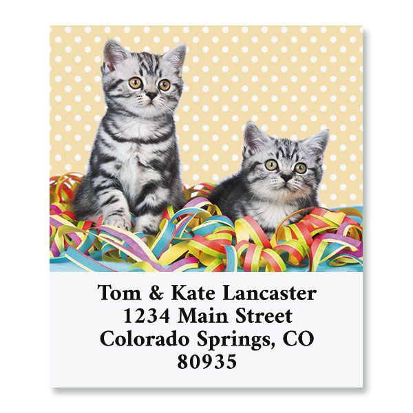 Birthday Cats Select Return Address Labels