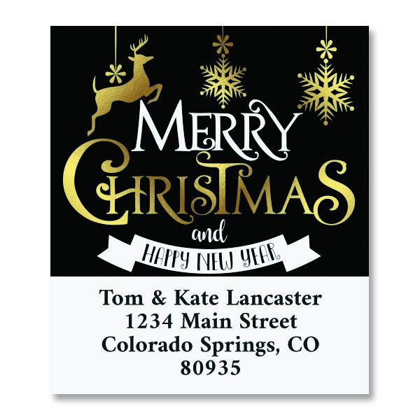 Festive Holiday Select Christmas Address Labels