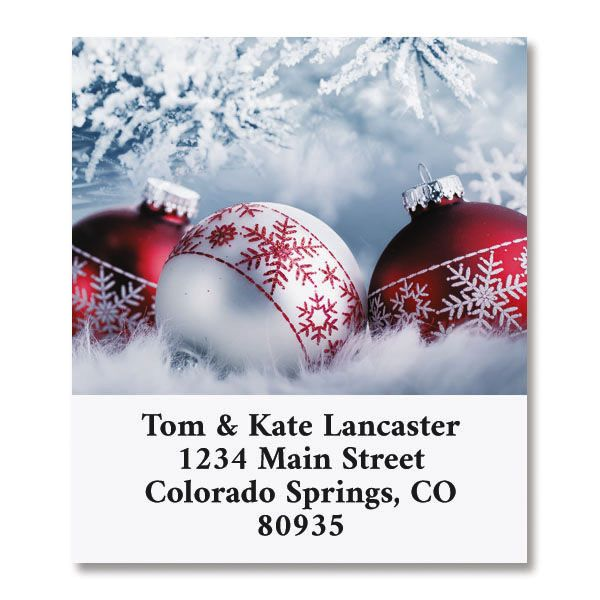 Frosted Select Christmas Address Labels