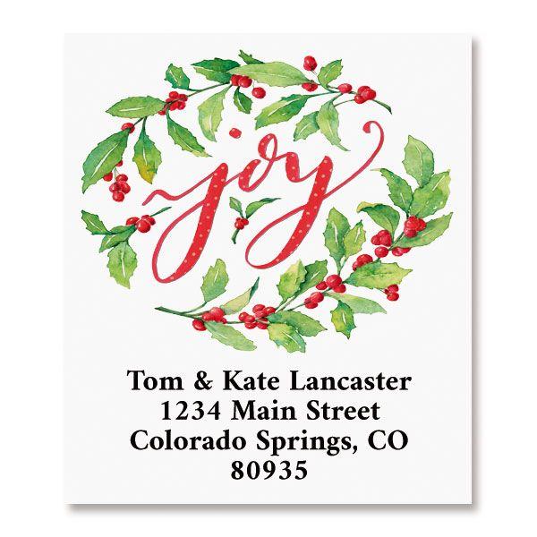 Joy Select Return Address Labels