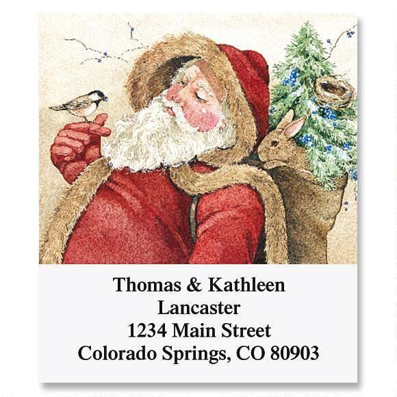 Woodland Santa Select Return Address Labels