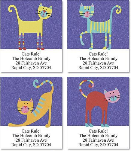 Fun Cats Select Return Address Labels  (4 Designs)