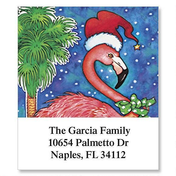 Flamingo Holiday Select Address Labels