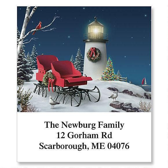 Christmas Sleigh Holiday Select Return Address Labels