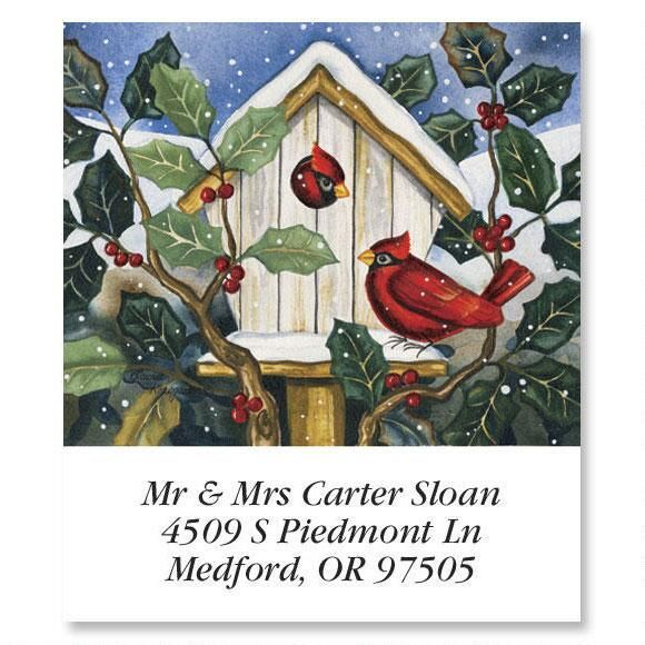 Cardinals at Home   Select Return Address Labels