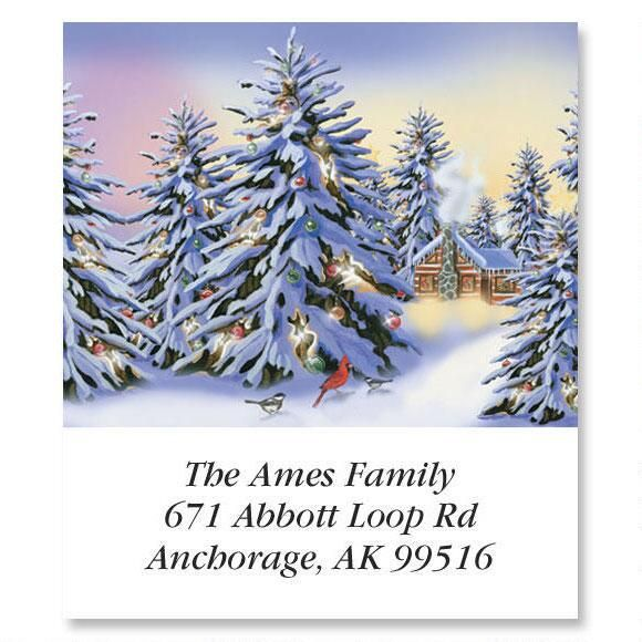 Snowy Trees  Select Address Labels