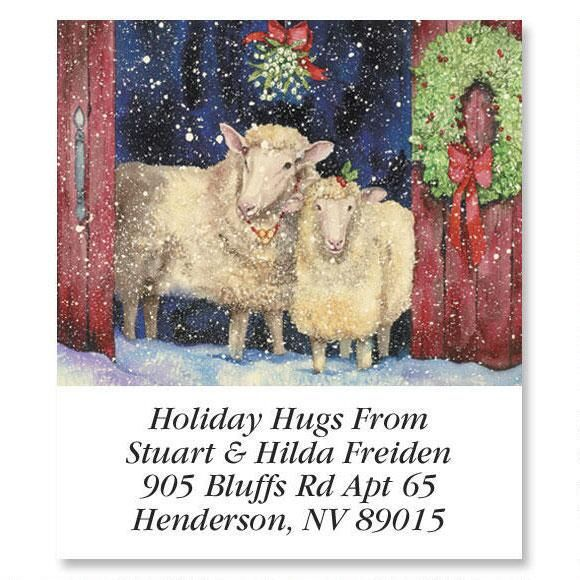 Under the Mistletoe Holiday Select Address Labels