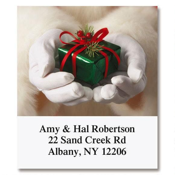 Santa's Hands Select Address Labels